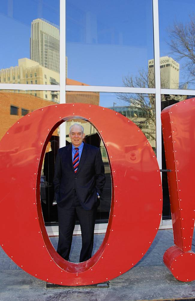 Greater Omaha Chamber of Commerce president and CEO David Brown poses for a photo behind the