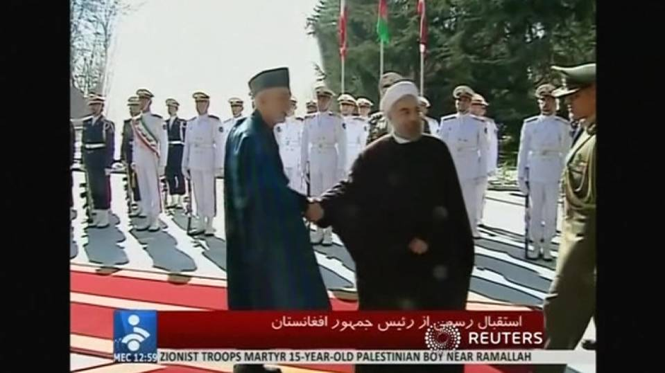 Karzai, Rouhani meet in Tehran