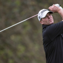 Steve Stricker tees off from the fourth hole during the final round of the Hero World Challenge golf tournament on Sunday, Dec. 7, 2014, in Windermere, Fla. (AP Photo/Willie J. Allen Jr.)