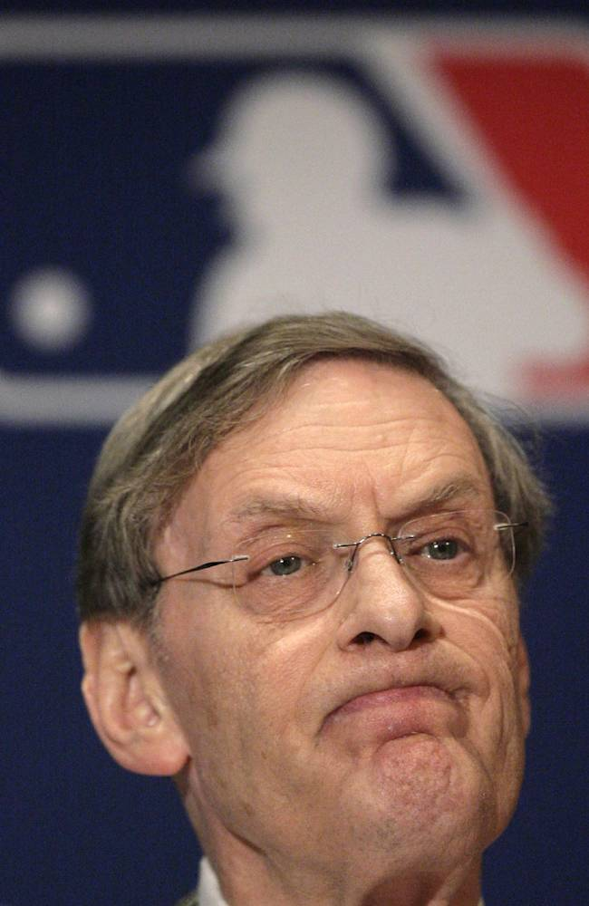 In this Dec. 13, 2007, file photo, Major League Baseball commissioner Bud Selig speaks during a news conference in New York. Selig said in a formal statement Thursday, Sept. 26, 2013, that he plans to retire in January 2015