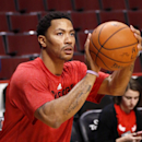 Chicago Bulls guard Derrick Rose works out before an NBA basketball game between the Bulls and the Atlanta Hawks on Tuesday, Feb. 11, 2014, in Chicago The Associated Press