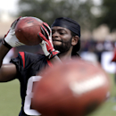 Houston Texans wide receiver Keshawn Martin catches a ball during an NFL football training camp practice Sunday, July 27, 2014, in Houston The Associated Press
