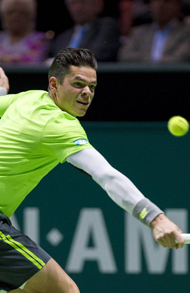 Top-seeded Raonic upset by Italy's Bolelli in Open 13