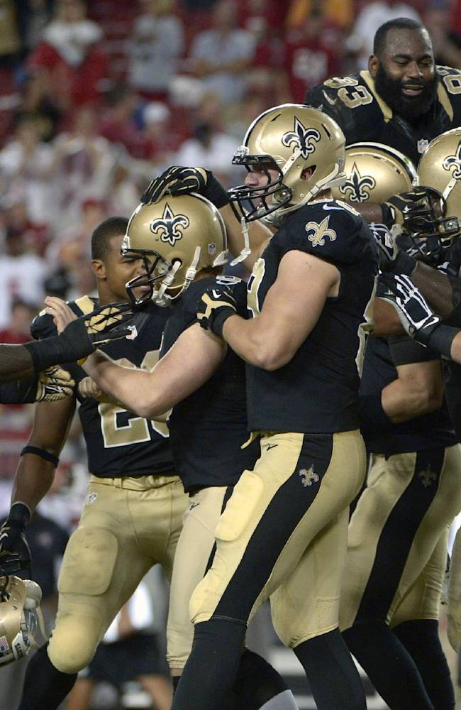 Hartley's late FG gives Saints 16-14 win over Bucs