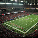 FILE - This is a Dec. 15, 2011, file photo showing the Georgia Dome during an NFL football game between the Atlanta Falcons and the Jacksonville Jaguars in Atlanta. The NFL has fined the Atlanta Falcons, stripped the organization of a draft pick and suspended team president Rich McKay from the league's Competition Committee beginning April 1 following the team's use of fake noise at home games. In a statement released Monday, March 30, 2015, the league announced that the Falcons have been fined $350,000 and will forfeit their fifth-round selection in the 2016 draft. If the Falcons have multiple picks in that round, the highest selection will be forfeited. (AP Photo/Pouya Dianat, File)
