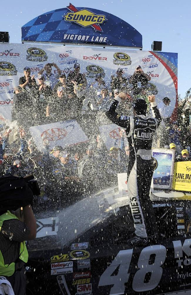 Johnson wins for record 8th time at Dover