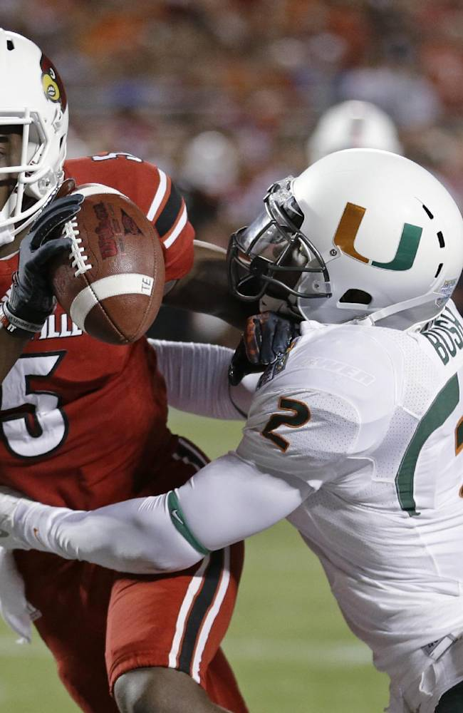 Bridgewater, No. 18 Louisville rout Miami 36-9