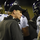 Wisconsin-Whitewater coach Lance Leopold, talks to his players during the first half of the NCAA Division III Championship college football game against Mount Union at Salem Stadium in Salem, Va., Friday Dec. 19, 2014. Wisconsin-Whitewater won 43-34 The A