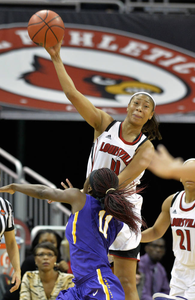 No. 5 Louisville women routs No. 14 LSU, 88-67