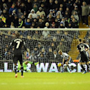 Chelsea's Branislav Ivanovic, far left, scores against West Brom during the English Premier League soccer match between West Bromwich Albion and Chelsea at The Hawthorns Stadium in West Bromwich, England, Tuesday, Feb. 11, 2014