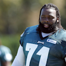 Philadelphia Eagles tackle Jason Peters moves off of the field after NFL football practice at the team's training facility, Tuesday, Sept. 23, 2014, in Philadelphia. The Associated Press