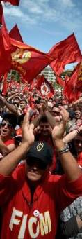Thousands join anti-austerity march in Rome