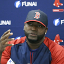 FILE - In this March 24, 2014, file photo, Boston Red Sox designated hitter David Ortiz speaks during a news conference in Sarasota, Fla. Ortiz says he
