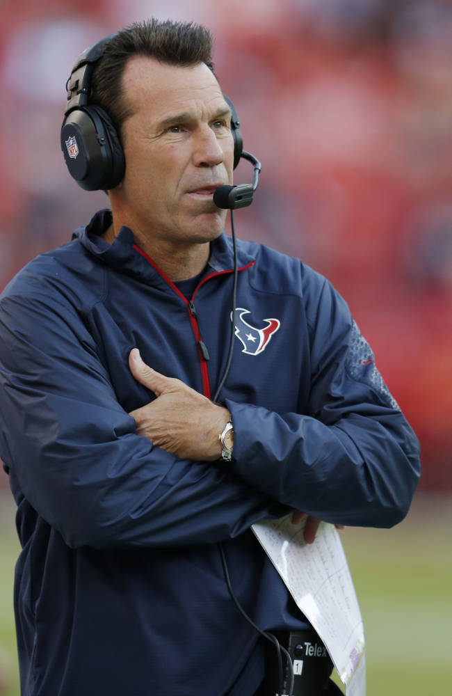Texans coach Kubiak collapses, taken to hospital