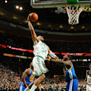 BOSTON, MA - MARCH 1: Paul Pierce #34 of the Boston Celtics goes in for a dunk against Festus Ezeli #31 of the Golden State Warriors on March 1, 2013 at the TD Garden in Boston, Massachusetts. (Photo by Brian Babineau/NBAE via Getty Images)