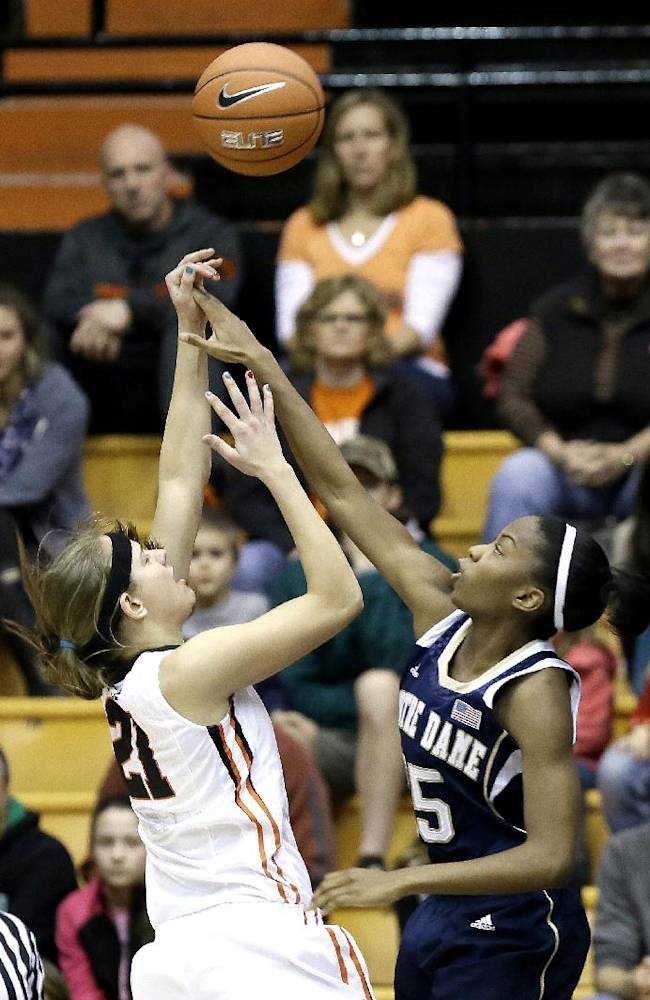 McBride, No. 2 Notre Dame women beat Oregon St