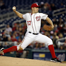 Washington Nationals starting pitcher Jordan Zimmermann throws during the fourth inning of a baseball game against the San Diego Padres at Nationals Park, Thursday, April 24, 2014, in Washington The Associated Press