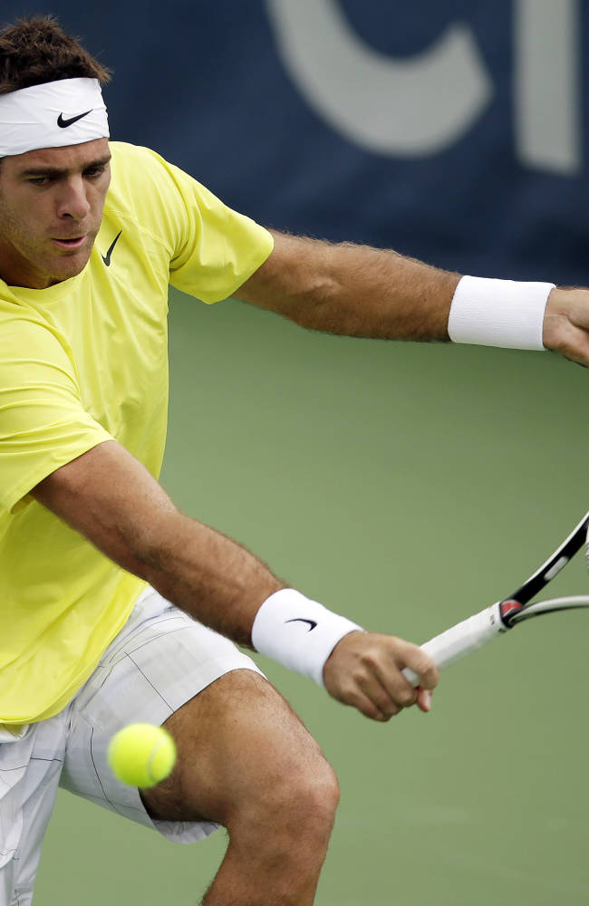 Del Potro wins twice to reach Citi Open quarters