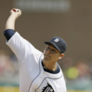 Detroit Tigers starting pitcher Anibal Sanchez throws during the seventh inning of an interleague baseball game against the Colorado Rockies, Sunday, Aug. 3, 2014, in Detroit The Associated Press