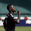 D.C. United forward Eddie Johnson (7) celebrates after his goal during the second half of an MLS soccer match against the New York Red Bulls on Sunday, Aug. 31, 2014, in Washington. United won 2-0 The Associated Press