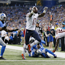 Chicago Bears wide receiver Alshon Jeffery runs into the end zone for a 10-yard touchdown run during the first half of an NFL football game in Detroit, Thursday, Nov. 27, 2014 The Associated Press