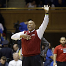 Florida Atlantic coach Mike Jarvis reacts during the second half of an NCAA college basketball game against Duke in Durham, N.C., Friday, Nov. 15, 2013. Duke won 97-64. (AP Photo/Gerry Broome)
