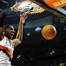 FILE - JULY 4: Free-agent LaMarcus Aldridge has agreed to sign a four-year, $80 million contract with the San Antonio Spurs, July 4, 2015. PORTLAND, OR - APRIL 27: LaMarcus Aldridge #12 of the Portland Trail Blazers dunks the ball in the second half of Game Four of the Western Conference Quarterfinals against the Houston Rockets during the 2014 NBA Playoffs at the Moda Center on April 27, 2014 in Portland, Oregon. The Blazers won the game 123-120. (Photo by Steve Dykes/Getty Images)