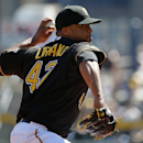 Pittsburgh Pirates' Francisco Liriano (47) delivers during the first inning of the season opening baseball game against the Chicago Cubs in Pittsburgh Monday, March 31, 2014 The Associated Press