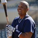 Detroit Tigers' Victor Martinez waits to hit during batting practice before an exhibition spring training baseball game against the New York Yankees in Lakeland, Fla., Friday, Feb. 28, 2014 The Associated Press