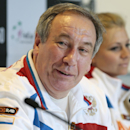 FILE - In this April 16, 2013 file photo, Russia's team captain Shamil Tarpischev speaks during a news conference prior to the Fed Cup match between Russia and Slovakia in Moscow, Russia. Russian Tennis Federation President Tarpischev has been fined $25,000 by the WTA Tour and suspended from tour involvement for a year for questioning Venus and Serena Williams' gender in comments on Russian television. The WTA Tour said Friday, Oct. 17, 2014, that the $25,000 fine is the maximum allowed under tour rules and that it is seeking Tarpischev's removal as chairman of the Kremlin Cup tournament for one year. (AP Photo/Mikhail Metzel, File)