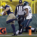 Green Bay Packers' Jordy Nelson catches a touchdown pass in front of Philadelphia Eagles' Bradley Fletcher during the first half of an NFL football game Sunday, Nov. 16, 2014, in Green Bay, Wis The Associated Press