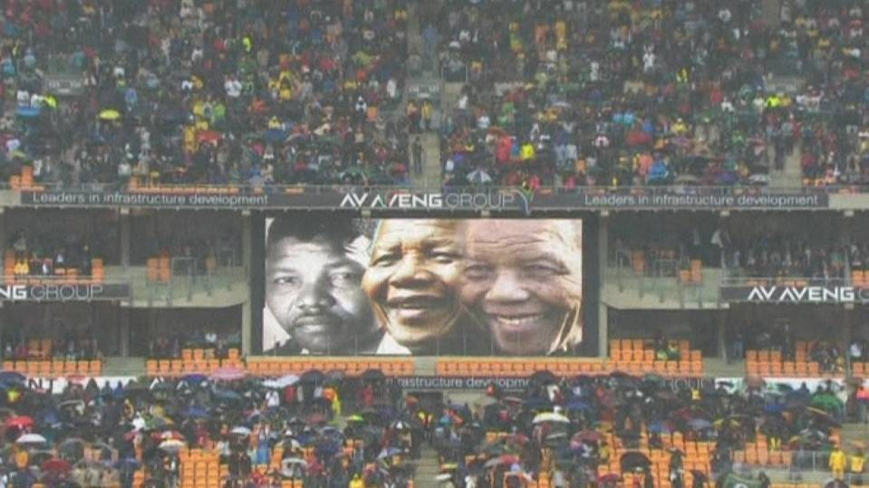 World leaders in Mandela memorial