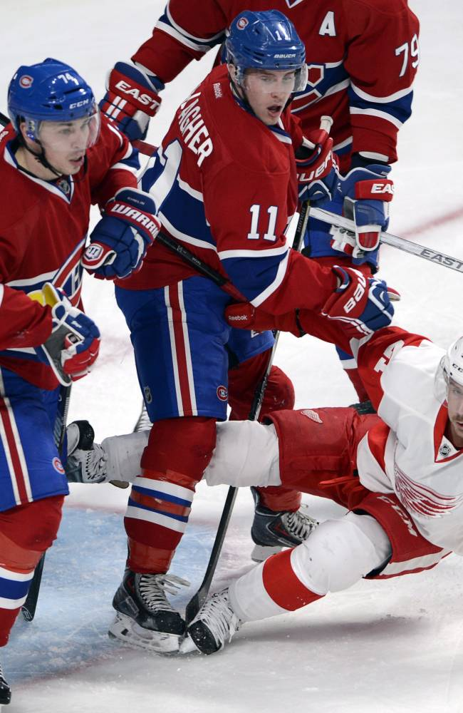 Nyquist scores in OT, Red Wings edge Canadiens 2-1