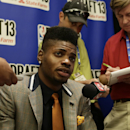 NEW YORK - JUNE 26: NBA Draft Prospect, Nerlens Noel speaks to the media during media availability as part of the 2013 NBA Draft on June 26, 2013 at the Westin Times Square in New York City. (Photo by Steven Freemant/NBAE via Getty Images)