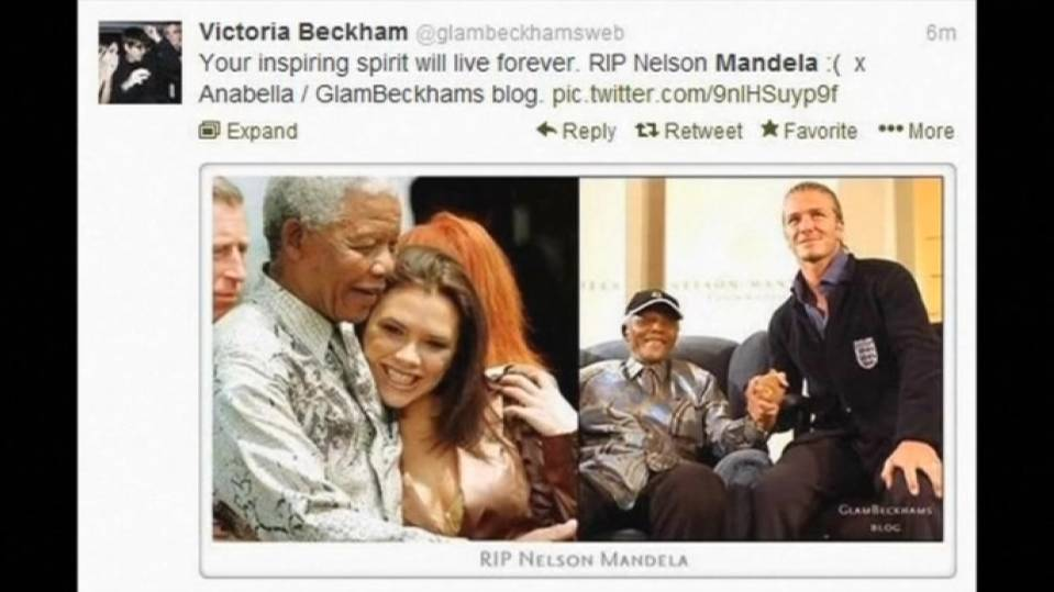 Politicians,celebrities take to Twitter regarding Nelson Mandela's death