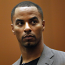 Former NFL safety Darren Sharper appears in Los Angeles Superior Court on Thursday, Feb. 20, 2014, in Los Angeles. Sharper has pleaded not guilty to charges that he drugged and raped two women he met at a West Hollywood night club. (AP Photo/Los Angeles Times, Bob Chamberlin, Pool)