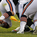 In this Aug. 14, 2014, file photo, an official's penalty flag flies during the first half of an NFL preseason football game between the Chicago Bears and Jacksonville Jaguars in Chicago. There has been a jump in the number of penalties called for illegal