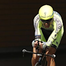 Tinkoff-Saxo rider Ivan Basso of Italy cycles during the 13.8 km (8.57 miles) individual time-trial first stage of the 102nd Tour de France cycling race in Utrecht, Netherlands, July 4, 2015. REUTERS/Benoit Tessier