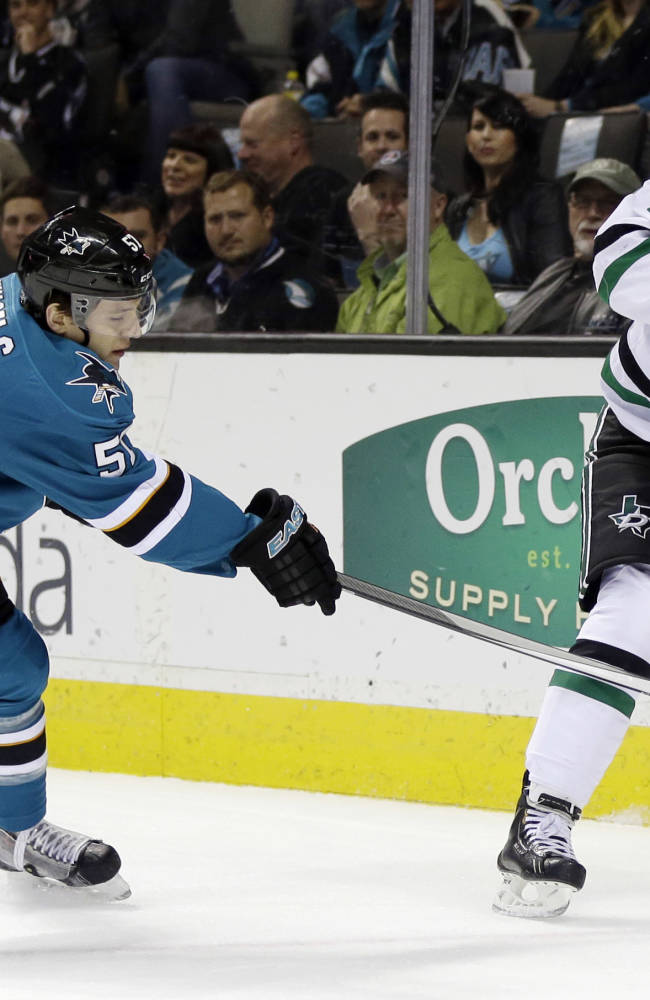 Sharks beat Stars 2-1 in overtime