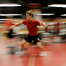 Ottawa Senators' Kyle Turris takes part in testing during the opening day of the NHL hockey training camp in Ottawa on Thursday, Sept. 18, 2014 The Associated Press
