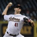 Houston Astros' Jordan Lyles delivers a pitch against the San Diego Padres in the second inning of a baseball game Tuesday, June 26, 2012, in Houston. (AP Photo/Pat Sullivan)