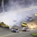 Earnhardt wins rain-delayed Daytona ahead of Dillon's crash (Yahoo Sports)