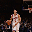 NEW YORK, NY - OCTOBER 13: Pablo Prigioni #9 of the New York Knicks handles the ball during a game against the Toronto Raptors at Madison Square Garden on October 13, 2014 in New York City, New York. (Photo by David Dow/NBAE via Getty Images)