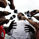 Washington Redskins quarterback Robert Griffin III speaks during a media availability after practice at the team's NFL football training facility, Sunday, July 27, 2014, in Richmond, Va The Associated Press