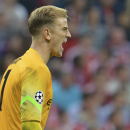 Manchester City's goalkeeper Joe Hart shouts during the Champions League group E soccer match between Bayern Munich and Manchester City in Munich, Germany, Wednesday Sept.17,2014