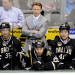 FILE- In this April 25, 2013, file photo, Dallas Stars head coach Glen Gulutzan watches play from behind the bench during the second period of an NHL hockey game against the Columbus Blue Jackets in Dallas. The Stars fired Gulutzan on Tuesday, May 14, 2013, after he failed to make the playoffs in two seasons at the helm. (AP Photo/Matt Strasen, File)