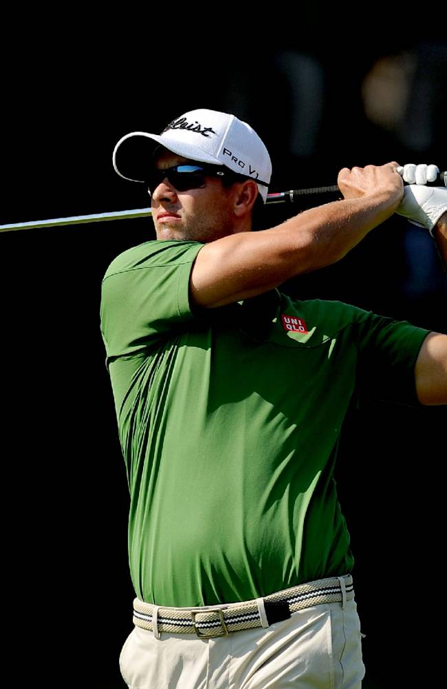 Adam Scott leads Australian PGA