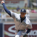 Seattle Mariners starting pitcher Taijuan Walker throws against the San Diego Padres in the first inning of a baseball game Wednesday, July 1, 2015, in San Diego. (AP Photo/Lenny Ignelzi)