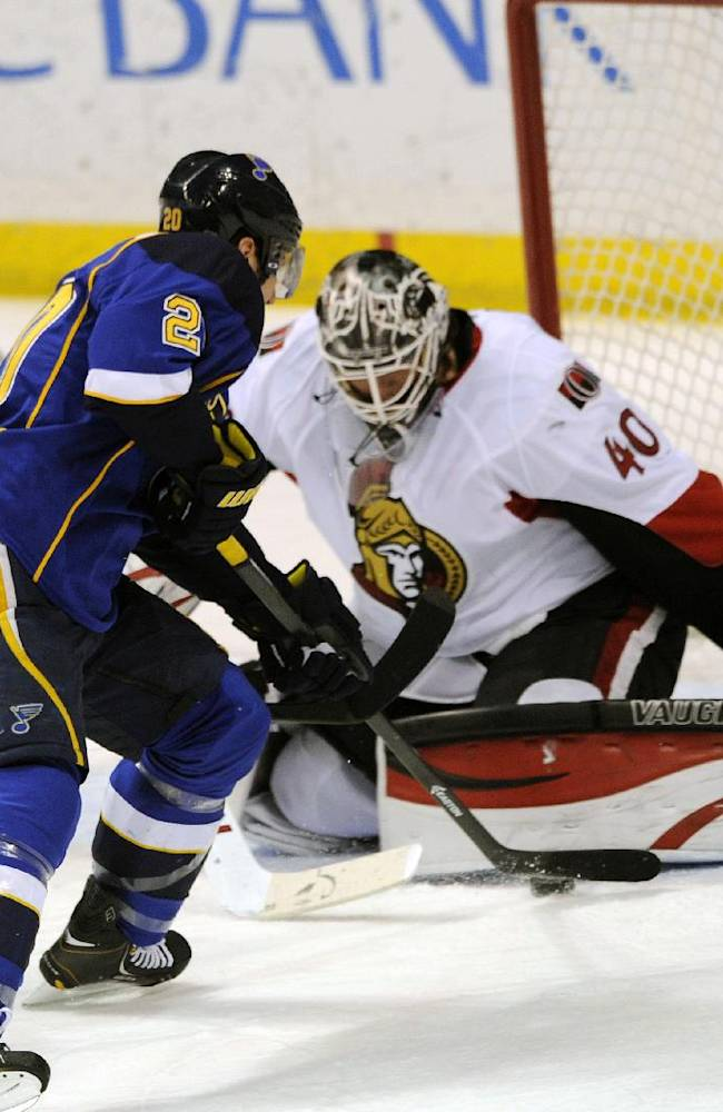 Turris decides shootout, Senators beat Blues 5-4