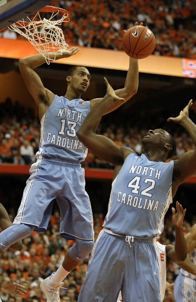 No. 2 Syracuse beats North Carolina 57-45